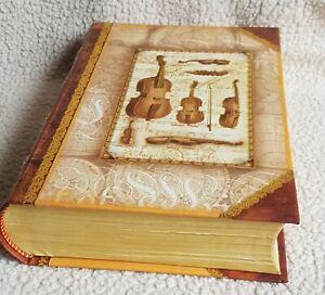 MUSIC BOOK SHAPED STORAGE TRINKET BOX