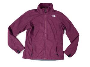 The Northface Women's Maroon Fleece Full Zip Jumper Jacket Size Medium