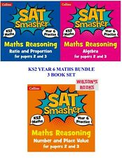 KS2 SATS SMASHER MATHS 3 BOOK BUNDLE FOR YEAR 6 REVISION & PRACTICE WORKBOOK