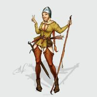 Rosie the Bowman 28mm Hot and Dangerous Wargamer Games Studio Miniture Bogen