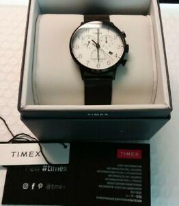 Timex TW2T36800VQ Waterbury Classic 40MM Men's Chronograph Black Steel Watch