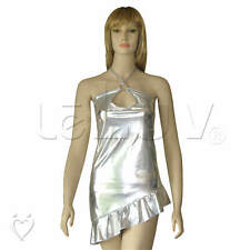 Clubwear - Dancing Queen Silver Mini Dress Disco Outfit Costume