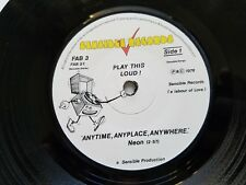 NEON Bottles / I'm Only Little / Anytime Anyplace Anywhere '78 UK NEW WAVE PUNK
