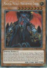 YU-GI-OH CARD: MAGICAL MUSKET MASTERMIND ZAKIEL - SECRET RARE  SPWA-EN022 1ST ED