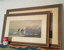 2 NEWPORT RI watch hill yacht club philadelphia pa antique art painting ny
