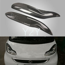 Carbon Headlight Eyelid Eyebrows Cover for Smart Fortwo W451 2009-2014