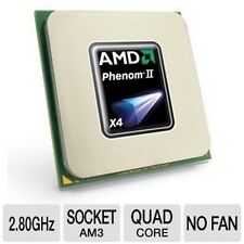 AMD Phenom II x4 Quad Core 830 2.8ghz Deneb AM3 CPU Processor HDX830WFK4DGM
