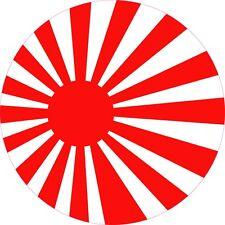 "JAPAN NIPPON RISING SUN FLAG STICKER 5"" ROUND"