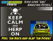 Keep Calm And Herp On Vehicle Decal Cold Blooded Prints Car Sticker Reptile