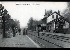 MENNECY (91) QUAI de la GARE animée début 1900