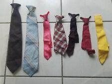Lot of 6 Vintage Boys & Mens Ties Neckties Plus 1 Ribbon