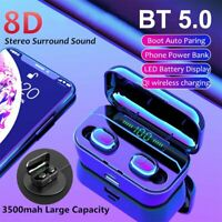 Mini TWS Bluetooth 5.0 Headset Stereo Wireless Earbuds Headphones Earphones IPX7