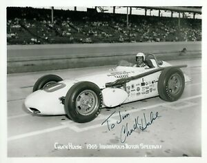Authentic Autographed Chuck Hulse 8x10 Indianapolis Indy 500 Photo