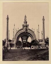 Paris Exposition Universelle 1900 Porte Monumentale Tirage Photomécanique