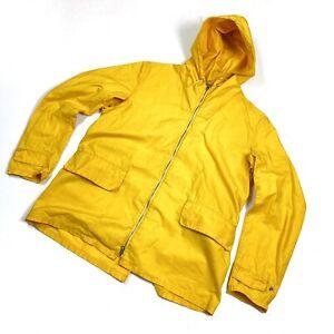 Men's Barbour Seaboard Waxed Yellow Jacket Norton & Sons Wax Coat Size XL