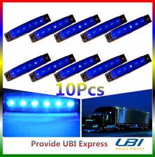 10 x 6 LED Side Marker Trailer Taail Rear Lights Lamp Indicator Truck 12V Blue