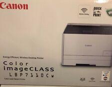 Brand New Canon imageCLASS LBP7110CW Wireless Color Laser Printer w/toners