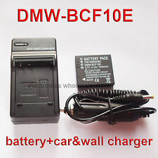 DMW-BCF10E Battery + Charger for Panasonic Lumix DMC-FT1 DMC-FT2 DMC-FT3 DMC-FT4