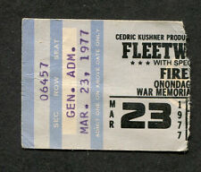 Original 1977 Fleetwood Mac concert ticket stub Syracuse NY Rumours Tour