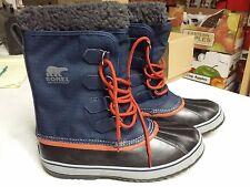 NIB - Sorel Men's Pac Nylon 1964 Navy Blue Boots Waterproof Size 9.5