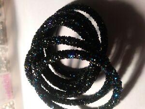 Napal Bangle Bracelet Cyrstal Glass Seed Beads Price is Each
