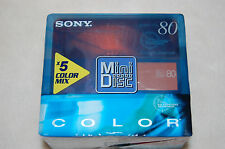 5 x Sony MD 80 Color (MDW80CRXSPE) Minidiscs neu, Minidisc blank, sealed, Japan