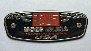 Yoshimura Metal Badge Exhaust Sticker Decal Heatproof 130mm x 50mm