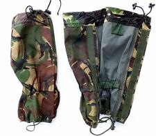 BRITISH ARMY ISSUE DPM GAITERS - USED - SIZE STANDARD - WATERPROOF - HIKING