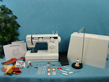 INDUSTRIAL STRENGTH Sewing Machine +WALKING FOOT Sews UPHOLSTERY  LEATHER CANVAS