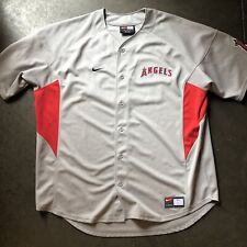 2f6cd28e631 Men s Nike Team Anaheim Angels Troy Glaus Gray Alternate Button Up Jersey  Sz XXL