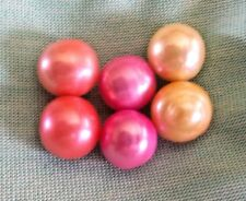 Edison Pearls 9-10 mm  Pink Coral butter cream real