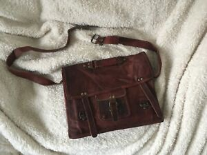 Never used - Large Brown Trendy Leather Satchel by Paperhigh, goat leather