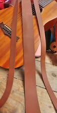 """Leather Strap Rustic Brown 2.6mm Leather Craft 50""""+ long belt making Any width"""