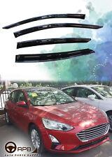 For Ford Focus 5D 2019 Chrome Trim Window Visor Guard Vent Deflector
