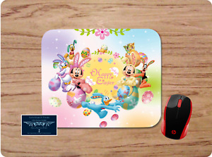 MICKEY & FRIENDS HAPPY EASTER SPRING CUSTOM MOUSE PAD DESK MAT HOME SCHOOL WORK