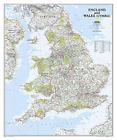 National Geographic: England And Wales Classic Wall Map - Laminated... BOOK NEW