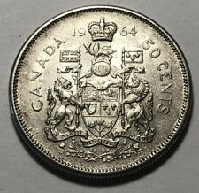 Canada 1964 Fifty (50) Cents Silver Coin - Queen Elizabeth II