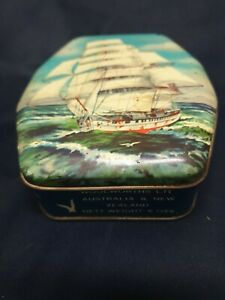 WOOLWORTHS LTD. 'GALLEON SAILING SHIP', 6 OZS, TOFFEES TIN