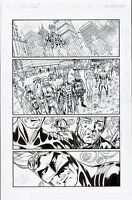THE MIGHTY CRUSADERS #2 ORIGINAL COMIC ART PAGE SHIELD, FLY GIRL, WEB, WAR EAGLE