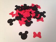 100 Red Bows Black Mickey Mouse Minnie Disney Die Cuts Confetti Scrapbook