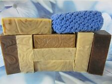 3 lbs 9 Large Great Smelling Bars Homemade Goat Milk Soap Olive/Coconut Oil