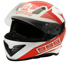 Motorradhelm Marushin 999RS Comfort Rot / Weiss Integralhelm Gr.M