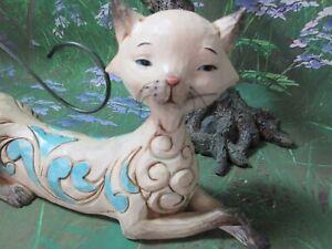 "Preloved💕Jim Shore Siamese cat ""Maya"" Heartwood Creek Figurine 2013"
