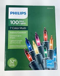 PHILIPS Indoor/Outdoor 100 Count, Multicolor Mini Lights, Energy Efficient