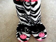 JUSTICE SLIPPER BOOTS SIZE L 6/7 FUNKY ANIMAL THEME IN OR OUTDOORS BNWT