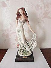 """G. ARMANI Figure Figurine Statue Sculpture """"Celebration"""" Lady Roses"""