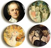 WILLIAM BLAKE BADGE BUTTON PIN SET (Size is 1inch/25mm diameter) ROMANTIC ART