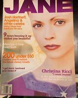 CHRISTINA RICCI May 2002 JANE Magazine JOSH HARTNETT
