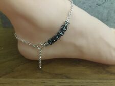 """Tv Slave Sub Cd Tg Slut Sissy Anklet Silver Plated Cable Chain 9.5"""""""