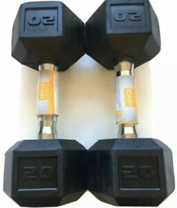 CAP Rubber Hex Dumbbell, Pair - 20lbs (40lb Total) BRAND NEW- FAST FREE SHIPPING